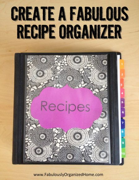 Start a recipe binder   include the tried and true, and find some