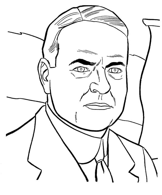 president herbert hoover coloring pages