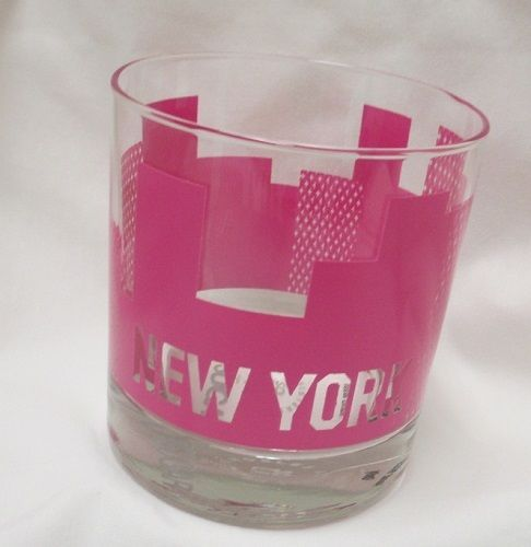 For sale in our eBay store...click photo for full details! Sisters Of Los Angeles SOLA Popsugar Rocks City Cup Bar Glass New York NY Pink #SistersOfLosAngelesSOLAPopsugar #NewYork #drinks #bar #pink #