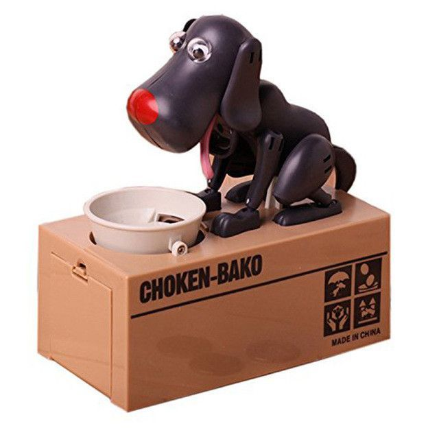 Actionclub Mechanical Adorable Kid Coin Bank Saving Box Catoon Puppy