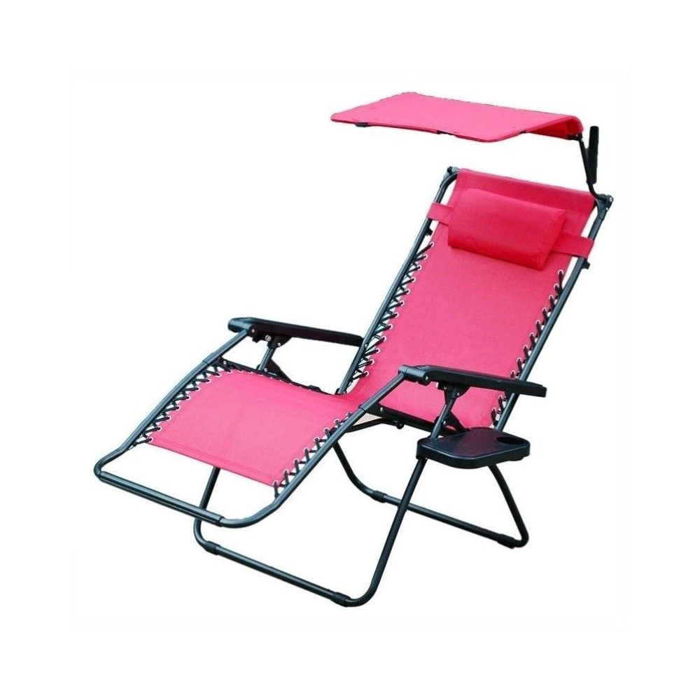 Oversized Zero Gravity Chair with Sunshade in Red Jeco