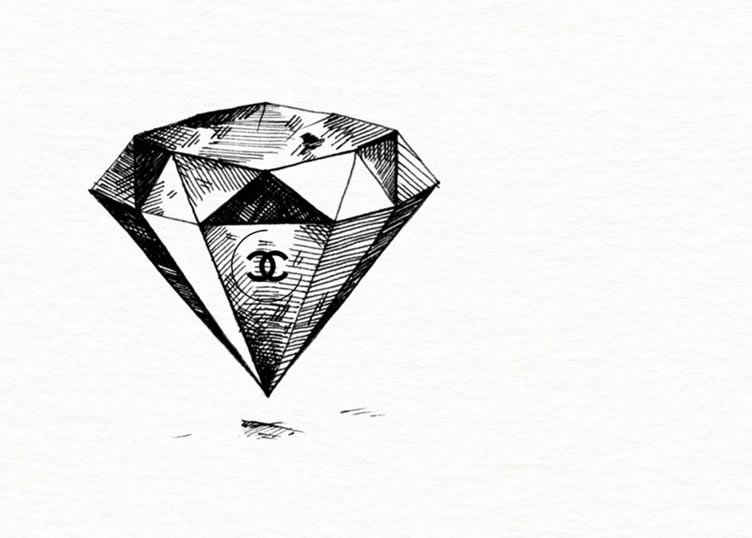 Shine Like A Diamond Chanel Diamond Tattoo Designs Chanel Wallpapers Diamond Tattoos