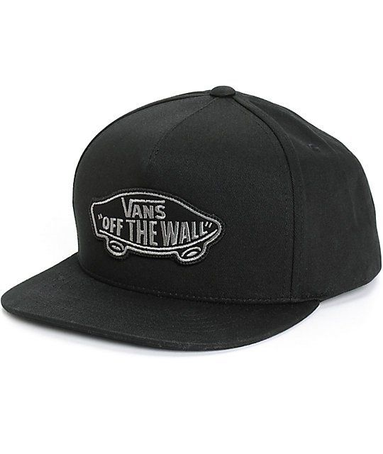 58e4bd435e2bdc Get a classic look with an iconic Vans Off The Wall logo patch on the front  of a comfortable black cotton crown.