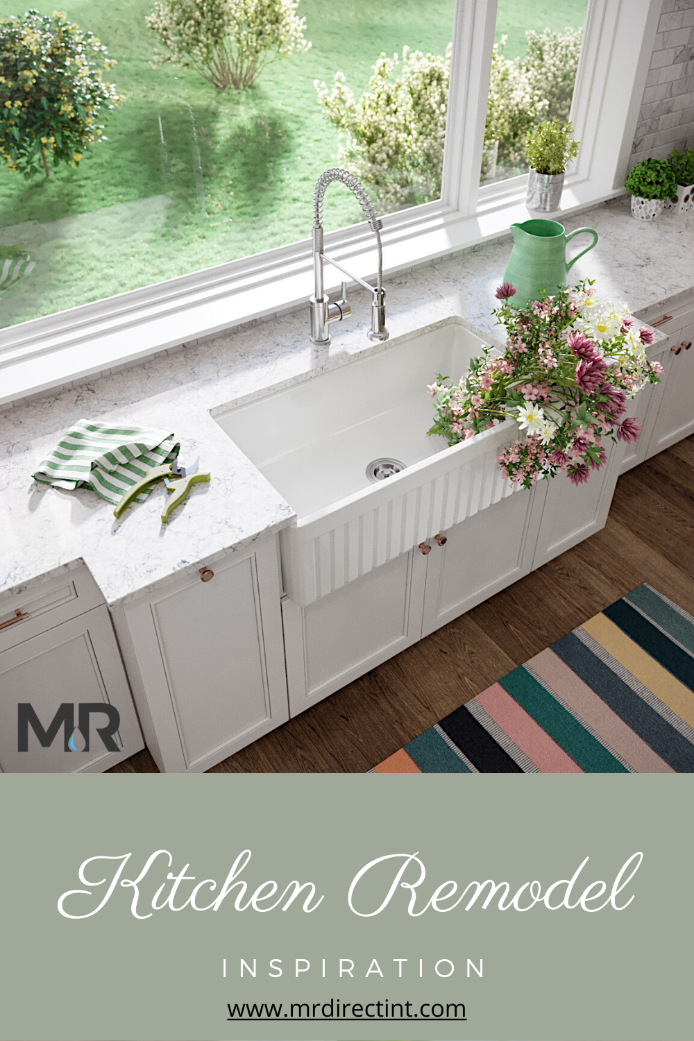 Make the most out of your kitchen space with a timeless, vintage inspired apron front farmhouse sink. add a fun, refreshing, and functional tool to your kitchen space that is beautiful, classic, and offers a touch of modernity.  Get all the details here... #kitchenremodel #remodel #renovation #kitchenideas #kitchensink #farmhousekitchen #farmhouse #springremodel #homedesign #remodelingideas #homedecorideas #kitchendecor #decor #kitchenideas #farmhousesink #fireclay #kitchentrends