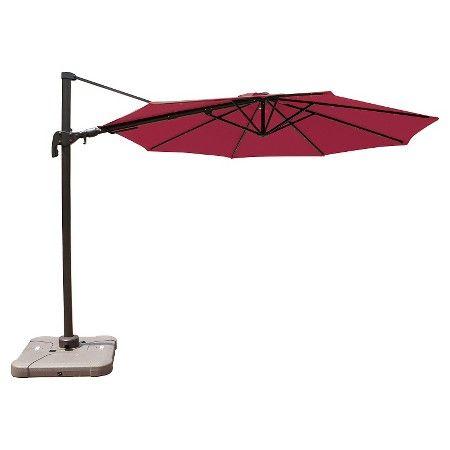 10 Offset Patio Umbrella W Solar Lights Target