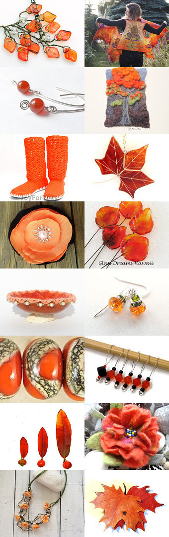 On Fire For Orange by Allison and Sheryl on Etsy--Pinned with TreasuryPin.com