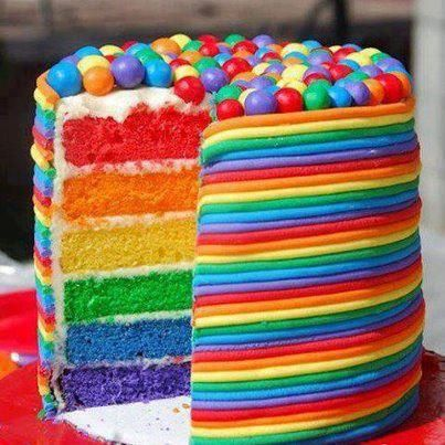 Cool Chocolate Recipes Rainbow Layer Cake