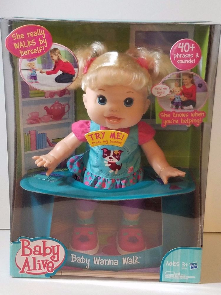 Baby Alive Wanna Walk Doll Walking Talking New Blond Box Gift Girl Collectable Baby Alive Girl Gifts Dolls