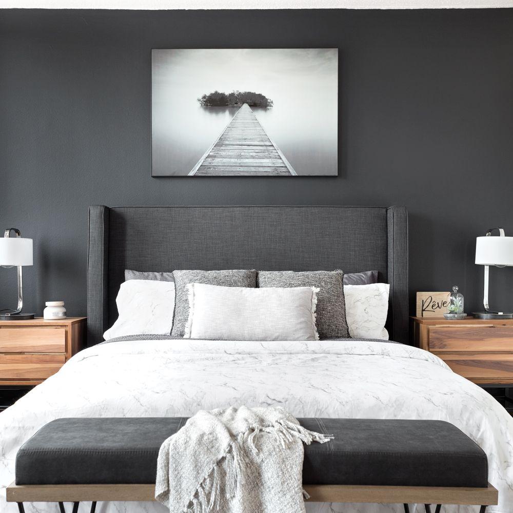 Chambre Couleur Gris Blanc gris charbon dans la chambre à coucher - je décore | chambre