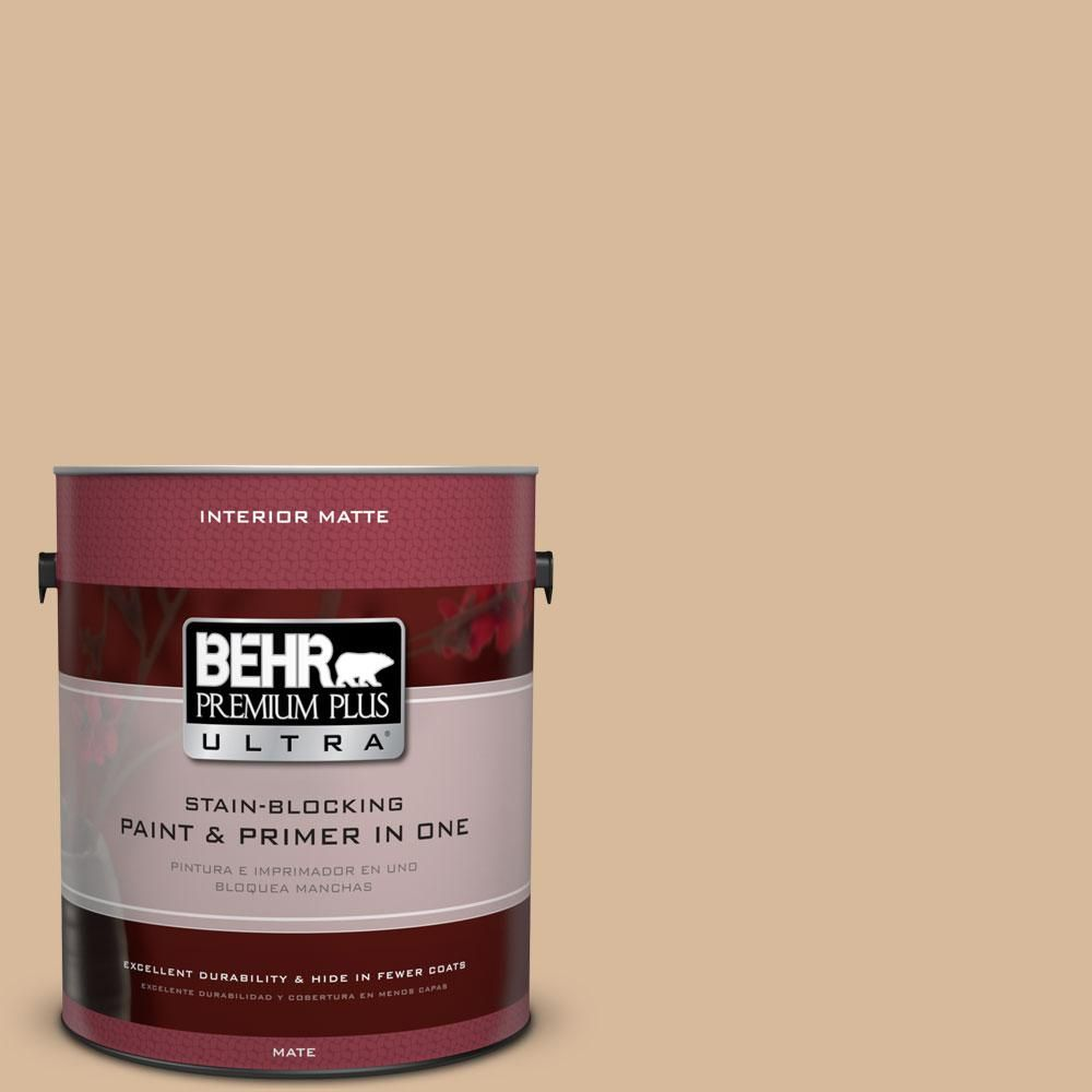 Behr Ultra 5 Gal S260 3 Dusty Gold Flat Exterior Paint And Primer In One 485405 The Home Depot Interior Paint Behr Premium Plus Ultra Behr Ultra