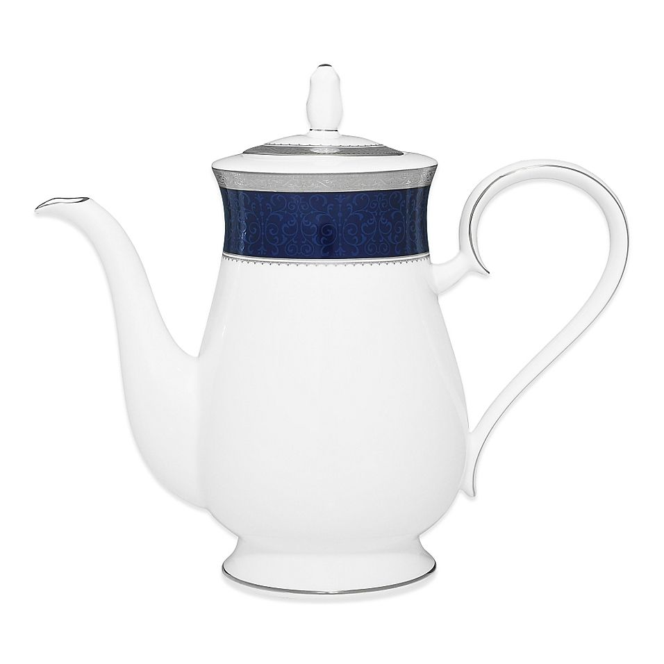 Noritake Odessa Cobalt Coffee Server In Platinum Multi #coffeeserver
