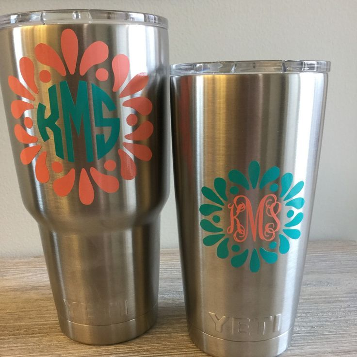 Designs for a yeti cup thesaltykiss shared a new photo on etsy