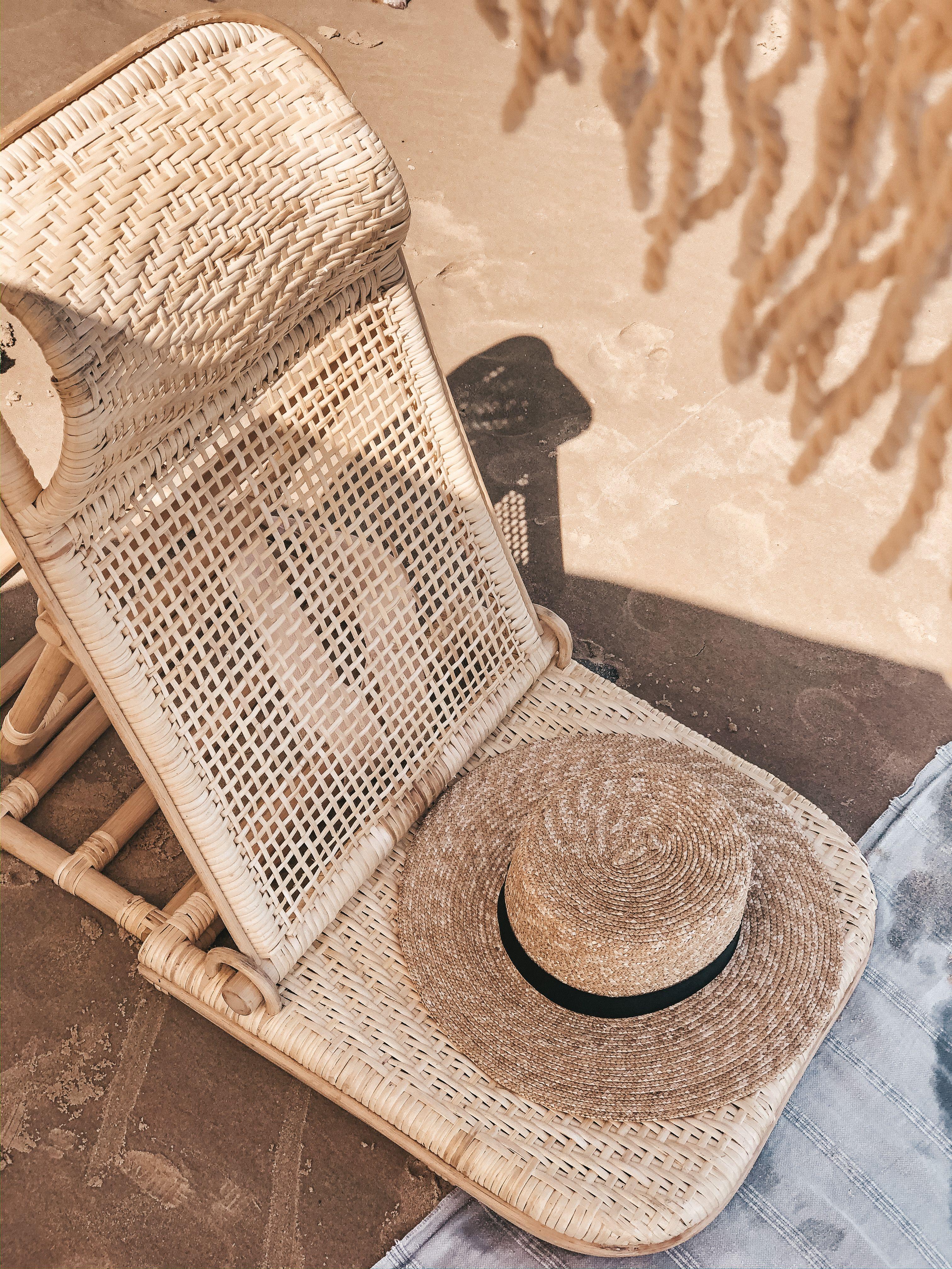 Rattan Beach Chair in 2020 Rattan beach chair, Beach