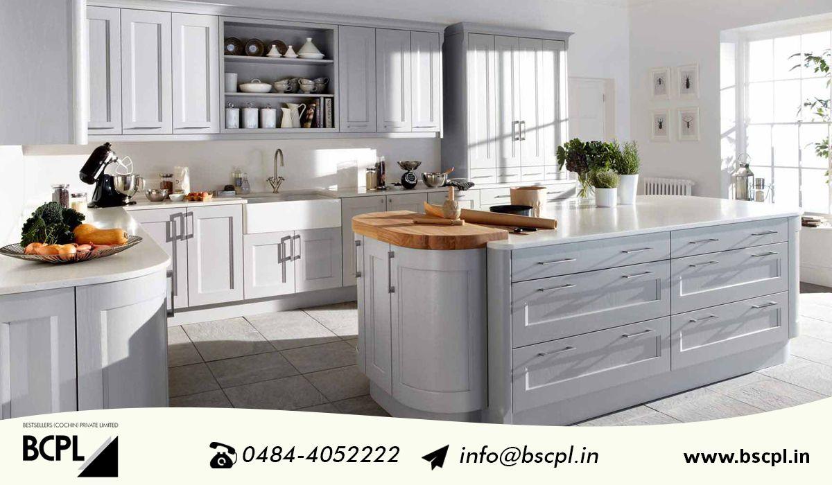 Island shaped Modular Kitchen - BCPL Kochi Contact : 0484 4052222, +91 9061057333 Visit : www.bscpl.in #bcpl #modularkitchen #appliancedealers #Kitchenaccessories #kitchenappliance
