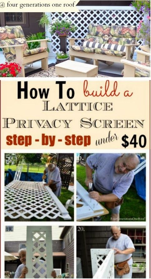 Diy projects diy how to build a lattice privacy screen do it diy projects diy how to build a lattice privacy screen solutioingenieria Choice Image