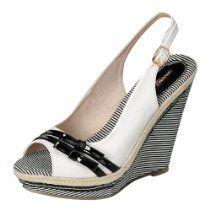 Reneeze COOKY-02 Women Platform High-Heel Wedge Sandals - White