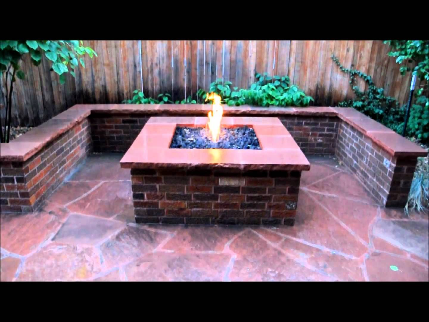 flagstone patio with fire pit. Brick Fire Pit, Seat Wall And Flagstone Patio. Patio With Pit S