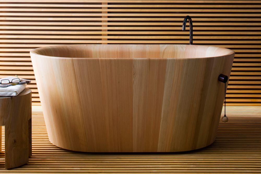 Baignoire Bois Japonaise Prix Baignoire Bois Bain Japonais Salle De Bain Deco Zen