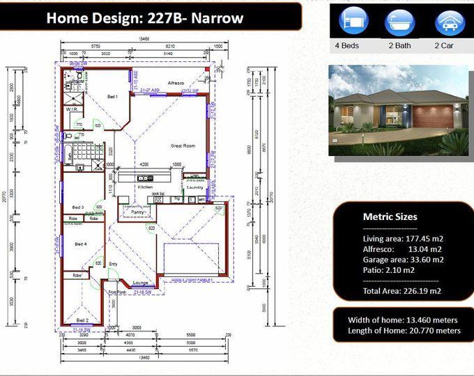 4 Bedroom House Plans 2960 Sq Foot 272 M2 Sunken Lounge