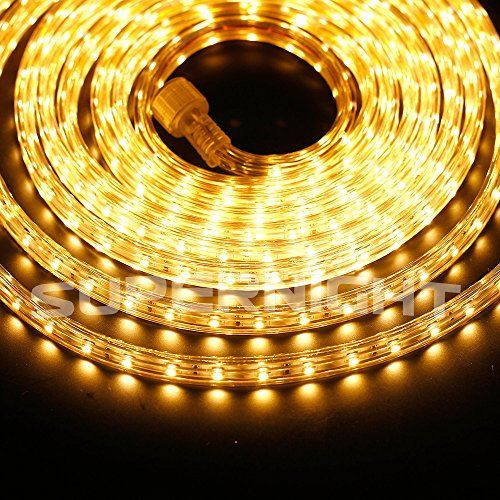 SUPERNIGHT® 110V IP67 Waterproof Flexible LED Strip Lights Super Bright 16.4ft / 5m & SUPERNIGHT® 110V IP67 Waterproof Flexible LED Strip Lights Super ...