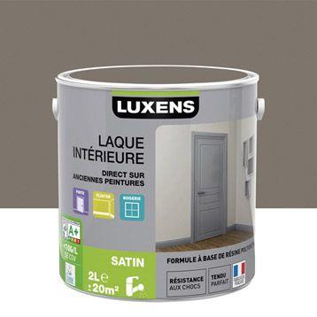 Peinture Luxens Laque Satin Brun Taupe N3 2 L Sweet Home Ideas