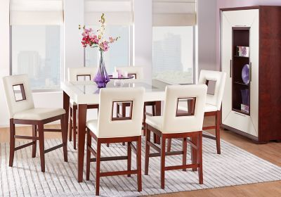 Sofia Vergara Savona Ivory 5 Pc Counter Height Dining Room