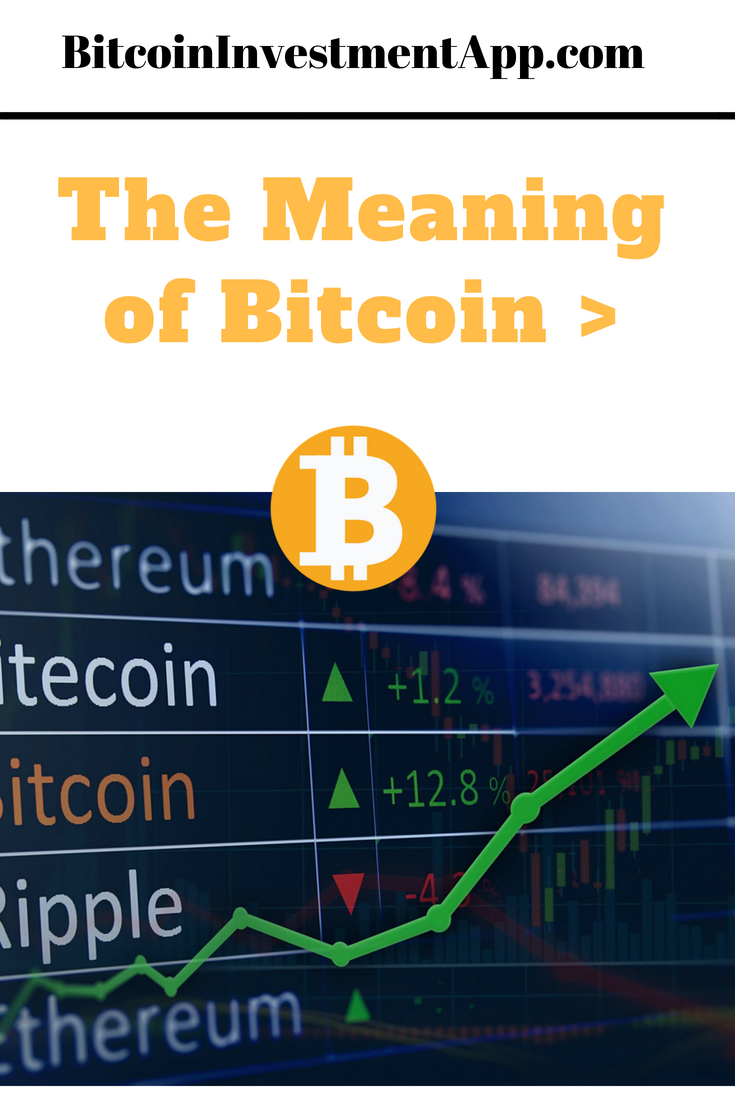 the meaning of bitcoin