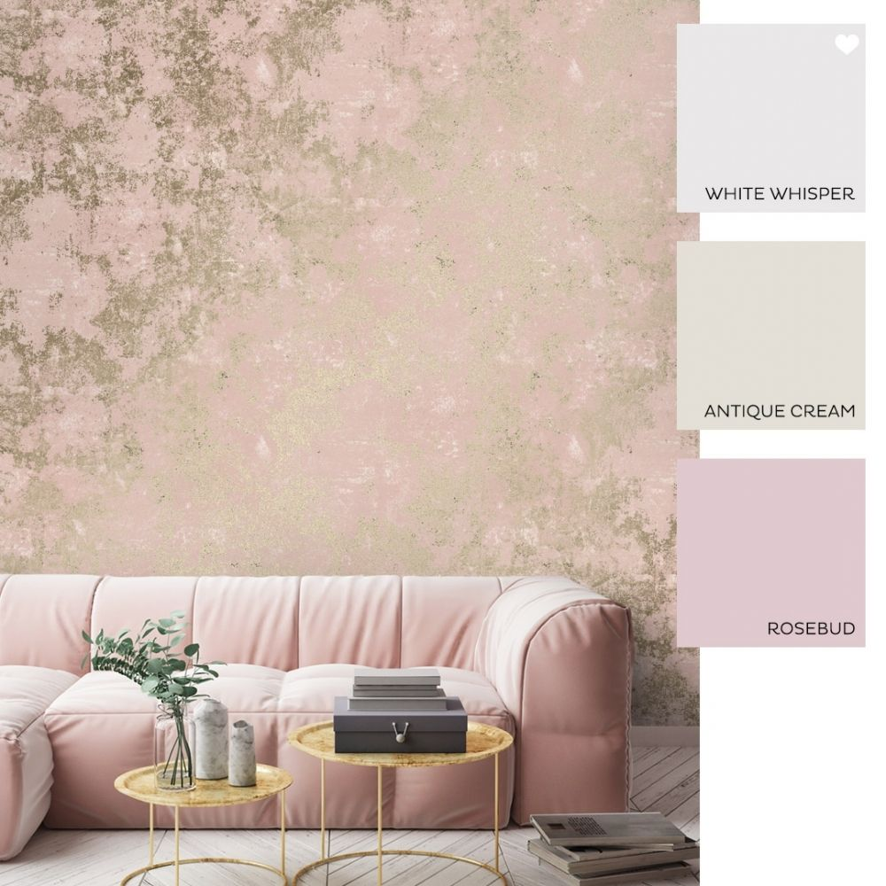 Geneva Metallic Wallpaper Pink Gold Metallic Wallpaper Bed