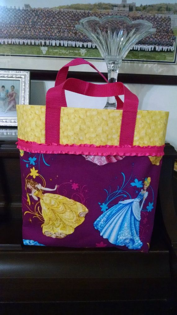 Disney Princess Kids Book Bag Library Bag by MaryMagicalMemories
