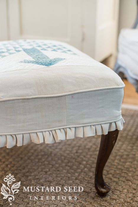 ottoman slipcover tutorial | szycie do domu | Pinterest | Sofá ...