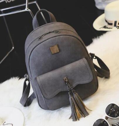e344cda095 EnoPella tassel women leather backpack teenage backpacks for girls vintage  feminine backpack