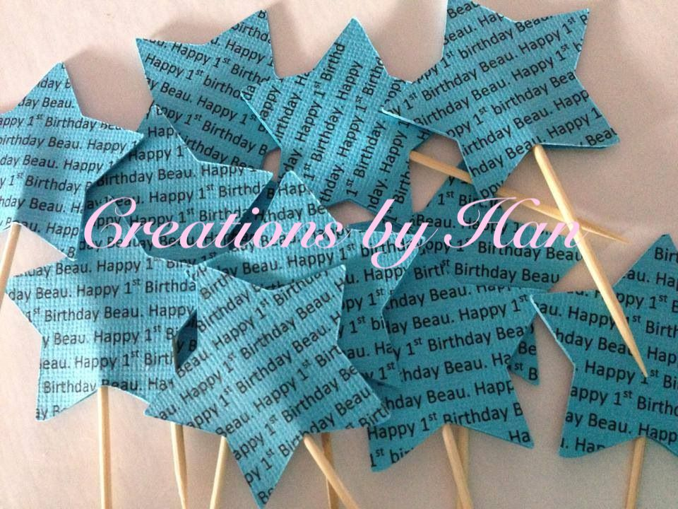 1st birthday personalised toppers