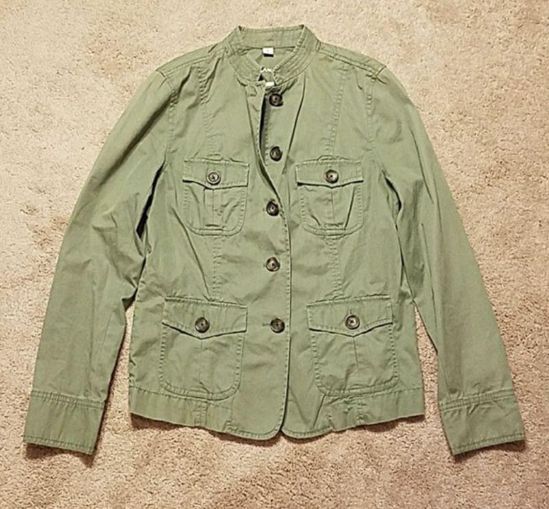 Banana Republic Unlined Lightweight Jacket Size M Green