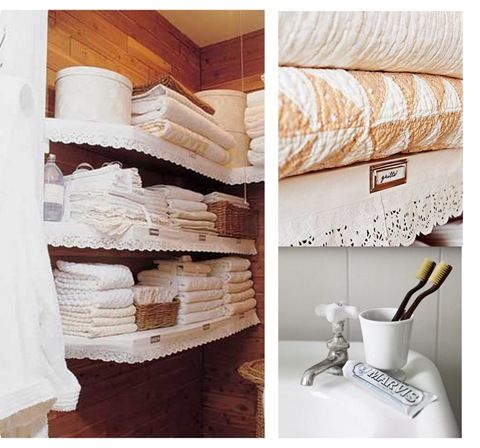 Linen Closet And Bathroom. Not To Mention The Textile Textures!