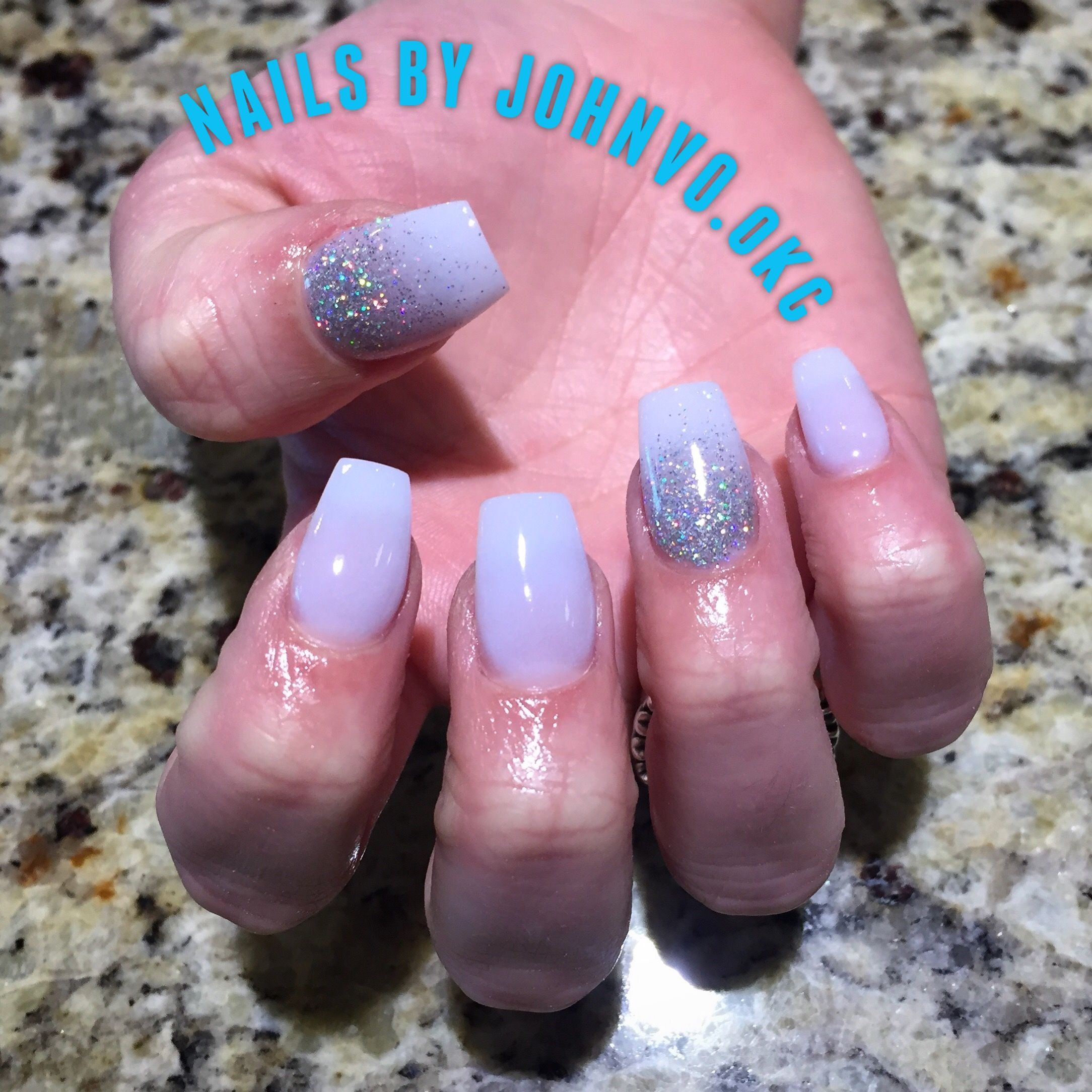 Dip Powder Ballerina Shaped Nails With Tip Extensions With Added
