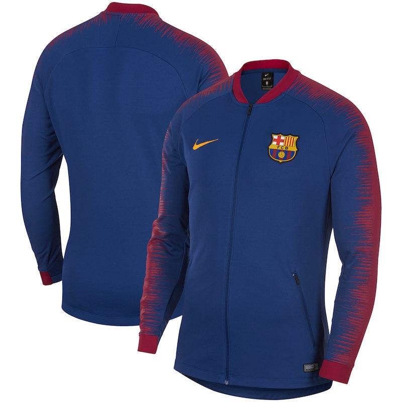 Barcelona Nike 2018 19 Anthem Performance Full-Zip Jacket – Blue ... 2dcd6b2277c71
