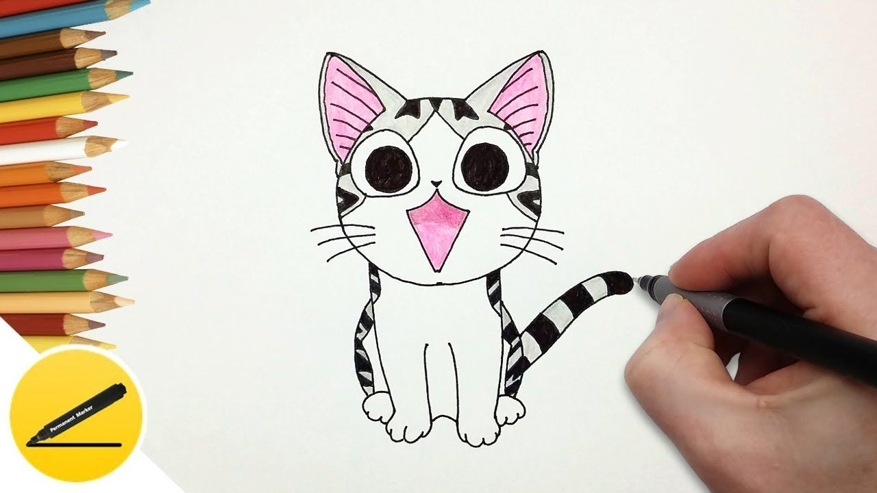 How to draw chi from chis sweet home step by step
