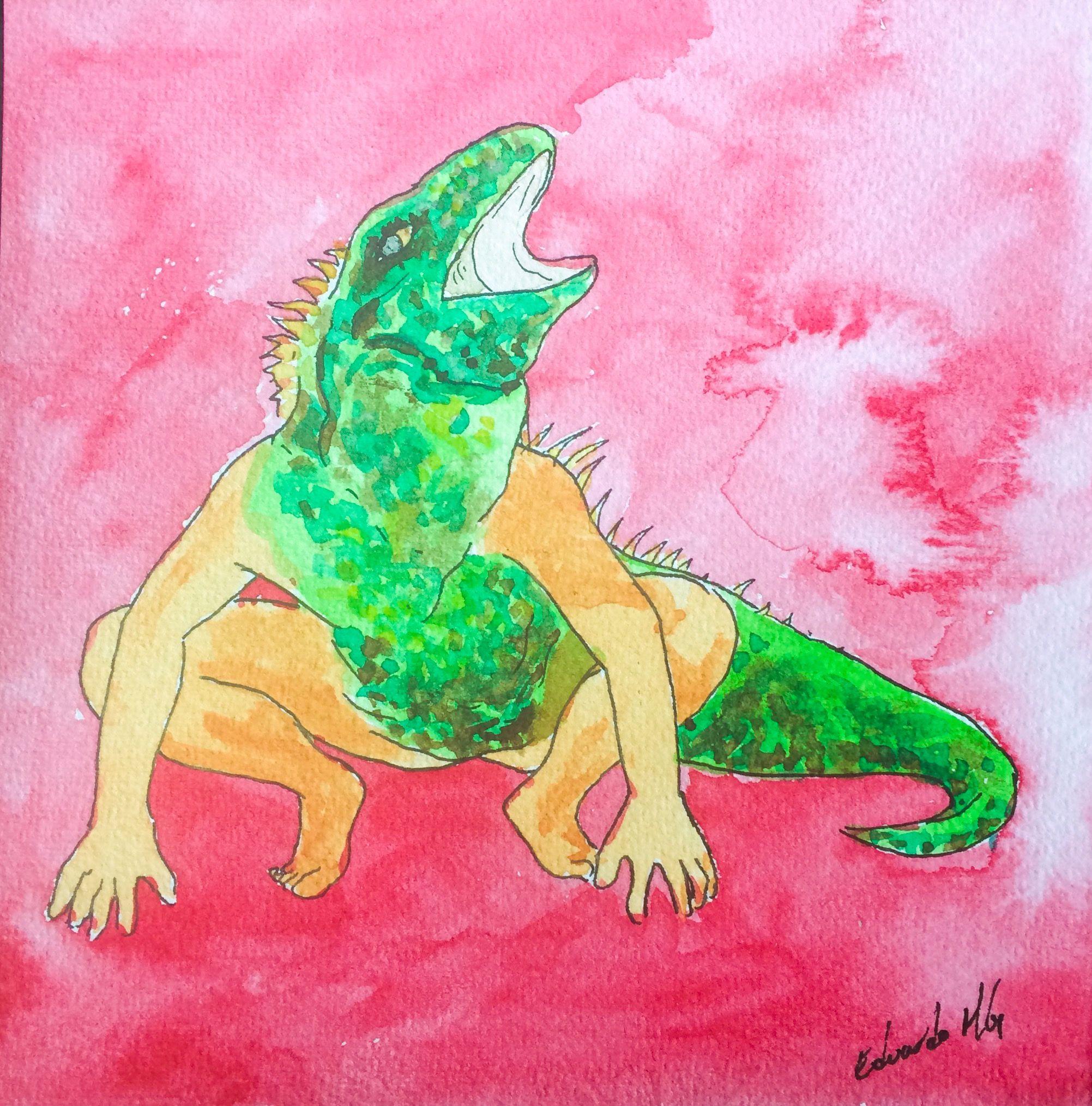 Art Drawing Watercolor Arte Dibujo Acuarela El Hombre Caiman Drawing Arte Painting
