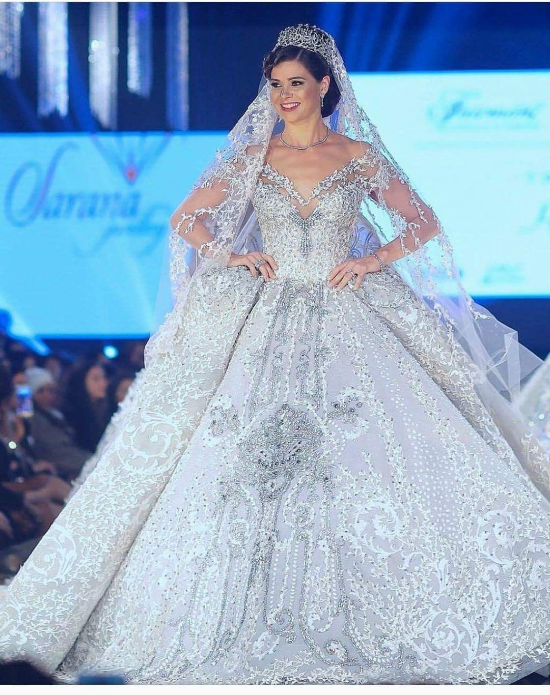 The Most Expensive Wedding Dress In The World By Fashion Designer Hany Elbehiery Expensive Wedding Dress Most Expensive Wedding Dress Elegant Wedding Dress