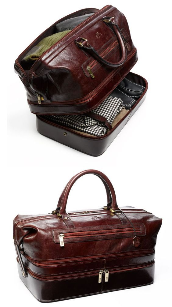 The Indiana Leather Adventure Duffel is part of Leather duffel - Traveling doesn't mean you have to compromise style and class  And why not make your next flight feel like more of an adventure  You'll love this classically and perfectly designed expander duffle, designed with the modern jetsetting, roadwarrioring, fine fitting man in mind  Channel your inner Indiana Jones with thi