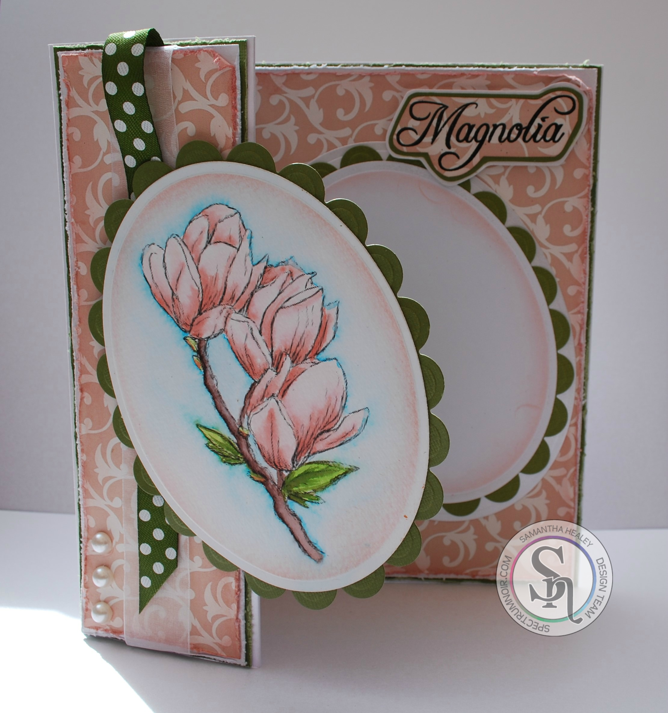 Sheena's A Little Bit Floral Magnolia stamp, Spectrum