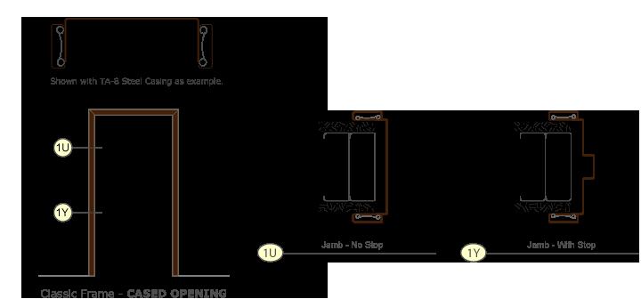 Timely Steel Door Frames Clasic Series Cased Opening