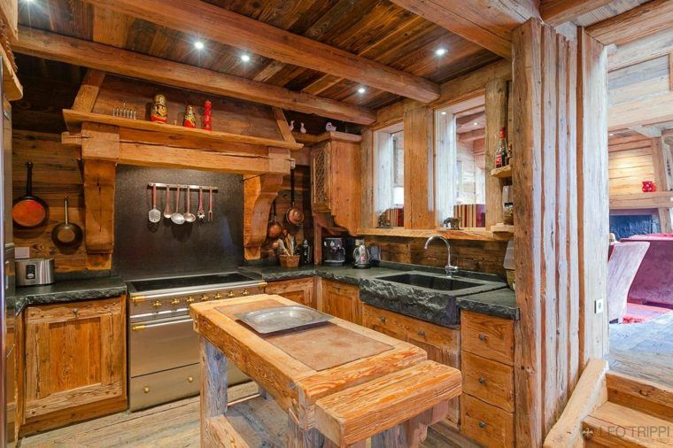 d co de cuisine et int rieur chalet montagne chalets pinterest maisons de campagne chalet. Black Bedroom Furniture Sets. Home Design Ideas