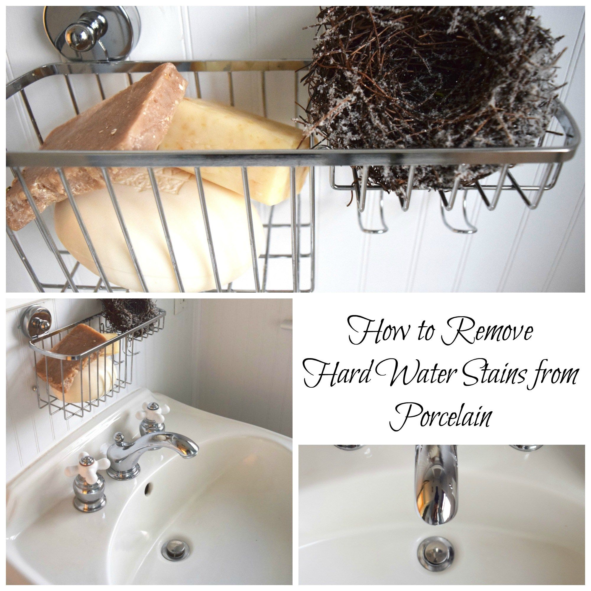 How To Remove Hard Water Stains From Porcelain Cleaning Tips - Remove stains from bathroom sink