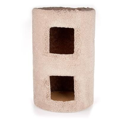 $26.99-$30.37 The Two Story Kitty Condo provides two cozy places for multiple cats to relax. Comfortable thick, plush, carpet makes our Condo the one kitty's prefer. The interior of the condo is blacked out for a cool, cave-like feel.
