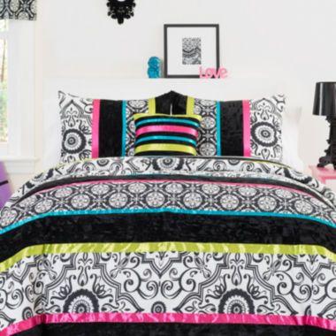 Seventeen Boho Nikko Damask Comforter Set Accessories Found At