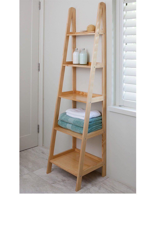 Ladder Bathroom Shelf - All About Bathroom