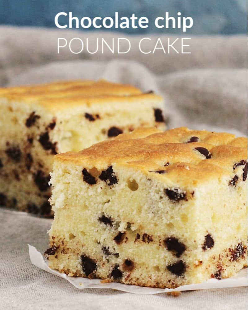 Chocolate Chip Pound Cake With Sour Cream Easy To Make And Wonderful For Picnics Barbecues Or Snacking Cake Recipe Chocolatechips In 2020 Chocolate Chip Pound Cake Chocolate Chip Recipes One Bowl