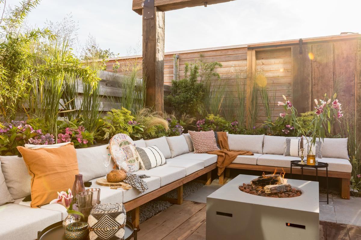 Lounge Tuin Hoekbank.Diy Grote Lounge Hoekbank Zelf Maken Loungebank In 2019