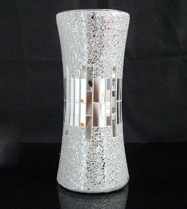 Mirror Flower Mosaic Glass Vases Vases Amp Bowls Mosaic